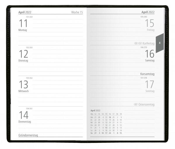 Taschenkalender DE PVC Alpha