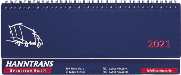 Schreibtischquerkalender Kunststoffeinband