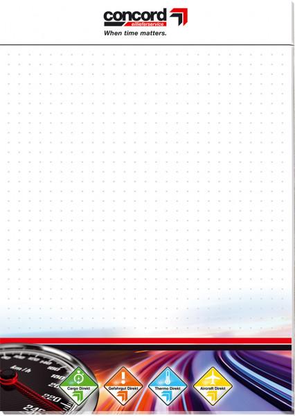 Notizblock DIN A4 4-farbig 25 Blatt