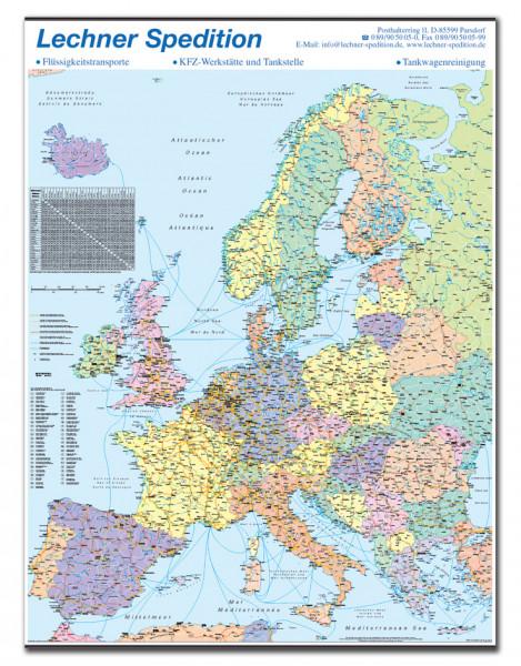Organisationskarte Europa