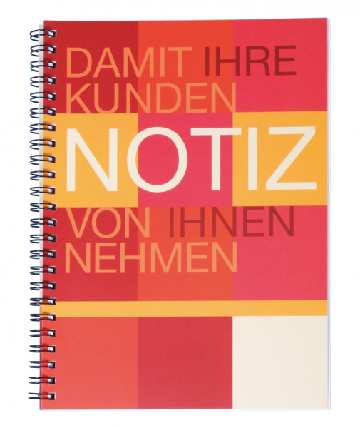 Notizblock Office DIN A5 1-farbig