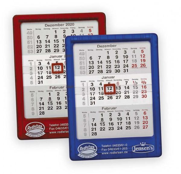 "Kalender ""Stand + Wand"" Frostfarben"