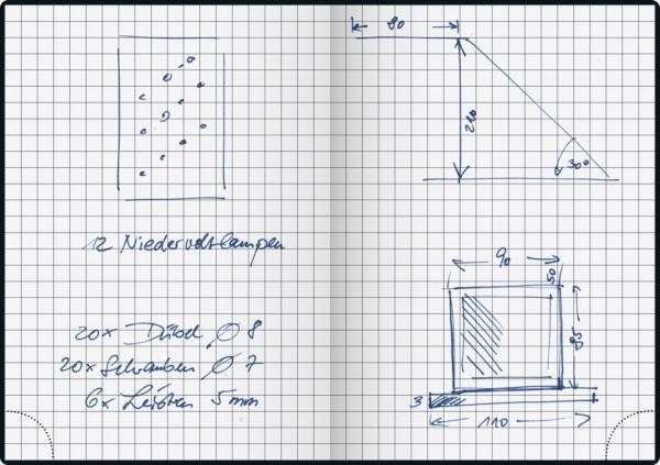 """Handwerker-Notizbuch""""Basic"""" A6 - 200"""